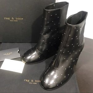 New Rag & Bone Agnes Studded Leather Ankle Bootie
